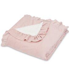 Ruffle Edge Fashion Sherpa Throw Blanket