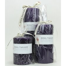 3 Piece Three Wisemen Scented Pillar Candle Set
