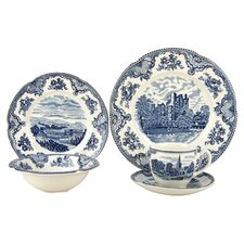 Old Britain Castles Blue 5 Piece Place Setting (Set of 4)