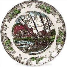 Friendly Village Tea Saucer (Set of 4)