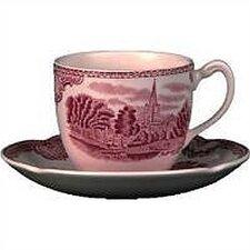 Old Britain Castles Pink Tea Saucer (Set of 6)