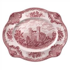 Old Britain Castles Pink Oval Platter
