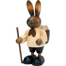 Christian Ulbricht Hiking Bunny with Backpack Ornament