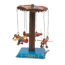 Collectible Decorative Tin Toy Airplane Carousel