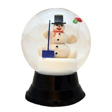 Perzy Large Snowman with Shovel Snow Globe