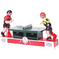 Collectible  Decorative Tin Toy Ping Pong Players