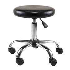 Clark Adjustable Height Swivel Bar Stool with Cushion