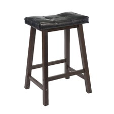 Antique Walnut Mona Bar Stool with Cushion