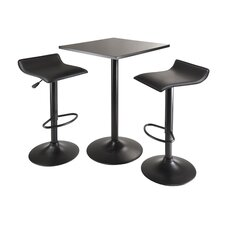 Obsidian 3 Piece Dining Table Set