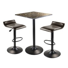 Cora 3 Piece Counter Height Pub Table Set