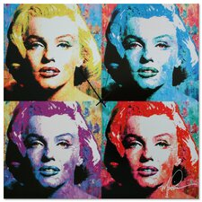 'Marilyn Monroe' Colorful Urban Pop Art Wall Clock