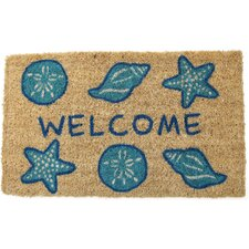 Handmade Shells Welcome Doormat