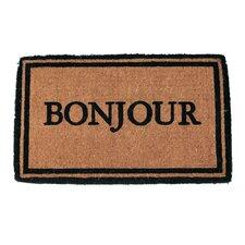 Handmade Bonjour Doormat