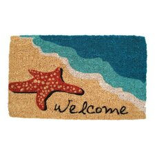 Handmade Starfish Welcome Doormat