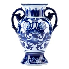 Blue and White Scroll Wall Vase