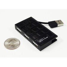 USB 2.0 4-Port Ultra Slim Hub, Black