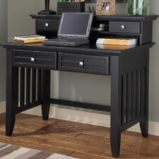 """Arts and Crafts 42"""" W Writing Desk and Hutch"""