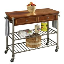 Orleans Kitchen Island with Wood Top