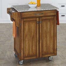 Cuisine Kitchen Cart with Granite Top