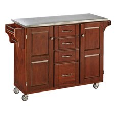 Create-a-Cart Kitchen Island with Stainless Steel Top