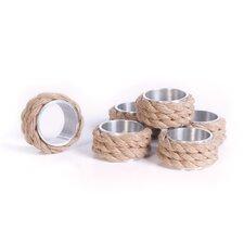 6 Piece Coastal Napkin Ring Set (Set of 6)
