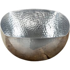 Square Hammered Serving Bowl