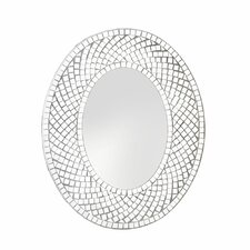 Shiny Tiles Oval Wall Mirror