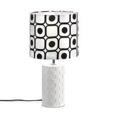 "Mod Graphic 18.87"" H Table Lamp with Drum Shade"