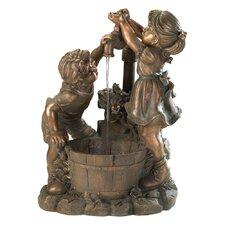 Playful Children Polyresin Fountain