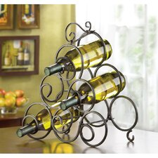 Scrollwork 6 Bottle Tabletop Wine Rack