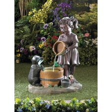 Bucketful Outdoor Fiberglass Fountain
