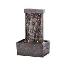 Peaceful Buddha Tabletop Polyresin Fountain