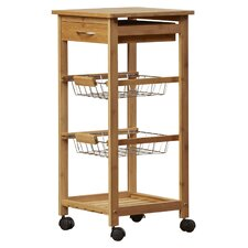 Kitchen Cart with Bamboo Top