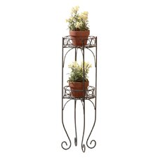 Scrolling Double Plant Stand