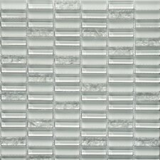 Jayda Series Glass Frosted and High-Gloss Mosaic in Ice