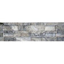 Travertine Cubic Honed Random Sized Wall Cladding Tile in Silver and Gray