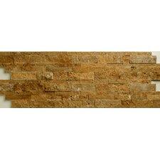 Noce Travertine Split Face Random Sized Wall Cladding Mosaic in Brown