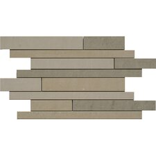 SGT Random Sized Strip Mosaics Dunes Porcelain Polished Tile in Mix