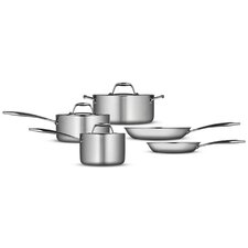 Gourmet 18/10 Stainless Steel Induction-Ready 8-Piece Cookware Set
