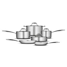 Gourmet 18/10 Stainless Steel Induction-Ready 10-Piece Cookware Set