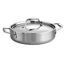 Gourmet Stainless Steel Round Braiser with Lid