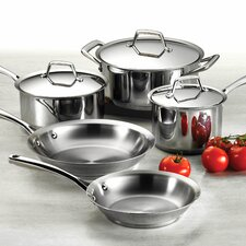 Gourmet Prima 8 Piece Stainless Steel  Cookware Set