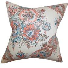 Laelia Floral Linen Throw Pillow