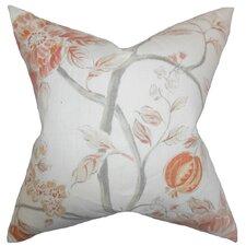 Ivria Floral Linen Throw Pillow