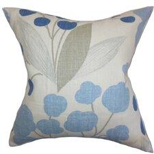 Geneen Floral Linen Throw Pillow