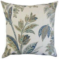 Grove Floral Linen Throw Pillow