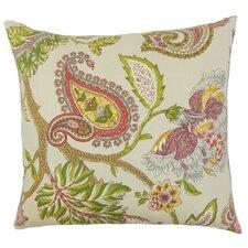 Julitte Floral Linen Throw Pillow