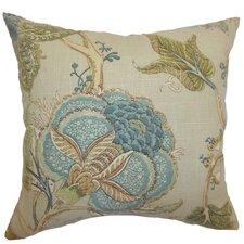 Gare Floral Linen Throw Pillow