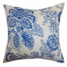 Paionia Floral Linen Throw Pillow