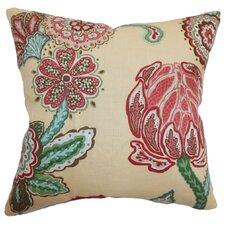 Samarinda Floral Linen Throw Pillow